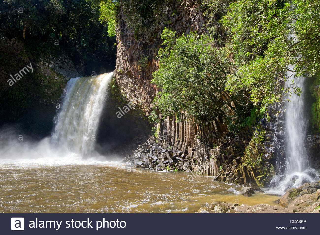 Bassin la paix waterfalls on Reunion island - Stock Image