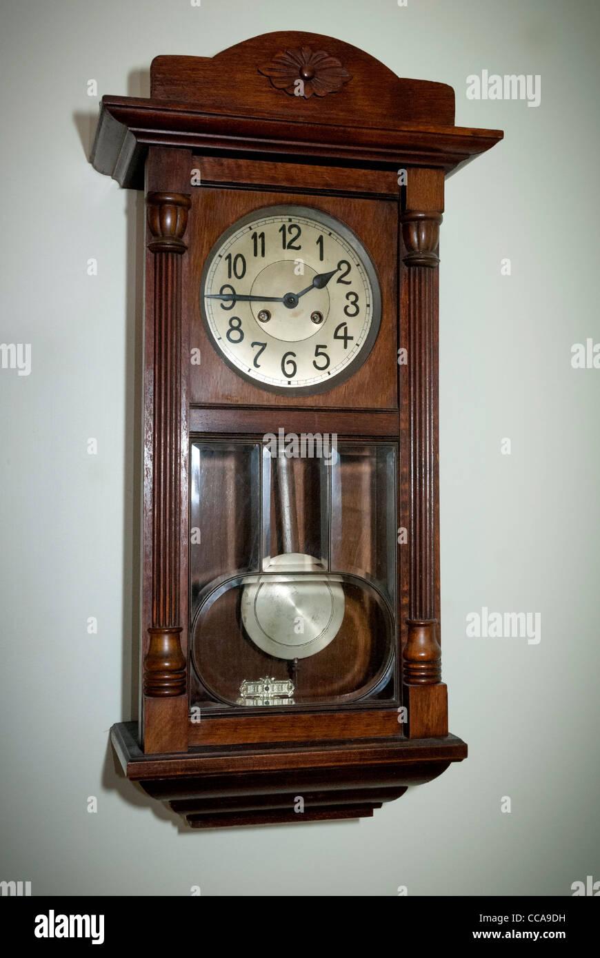 Antique Edwardian wall clock. - Stock Image