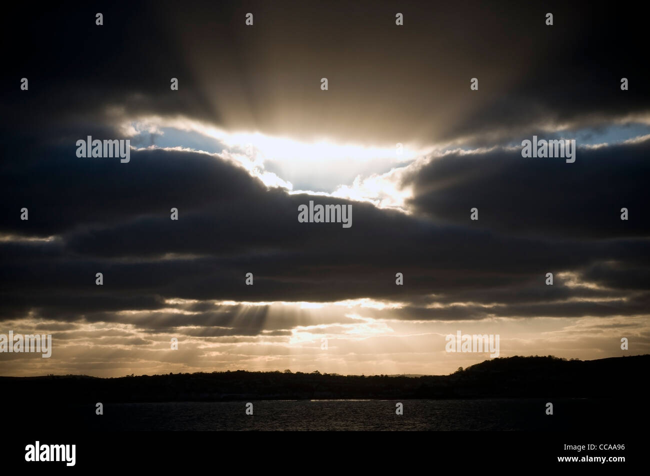 Sunsetting over Torquay,Devon,coast, devon, england, fishing, harbor, harbour, keywords, marina, mooring, port, - Stock Image