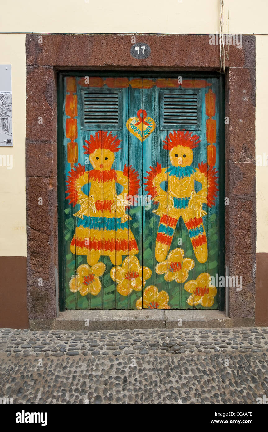 Street Of Painted Doors Stock Photos Amp Street Of Painted
