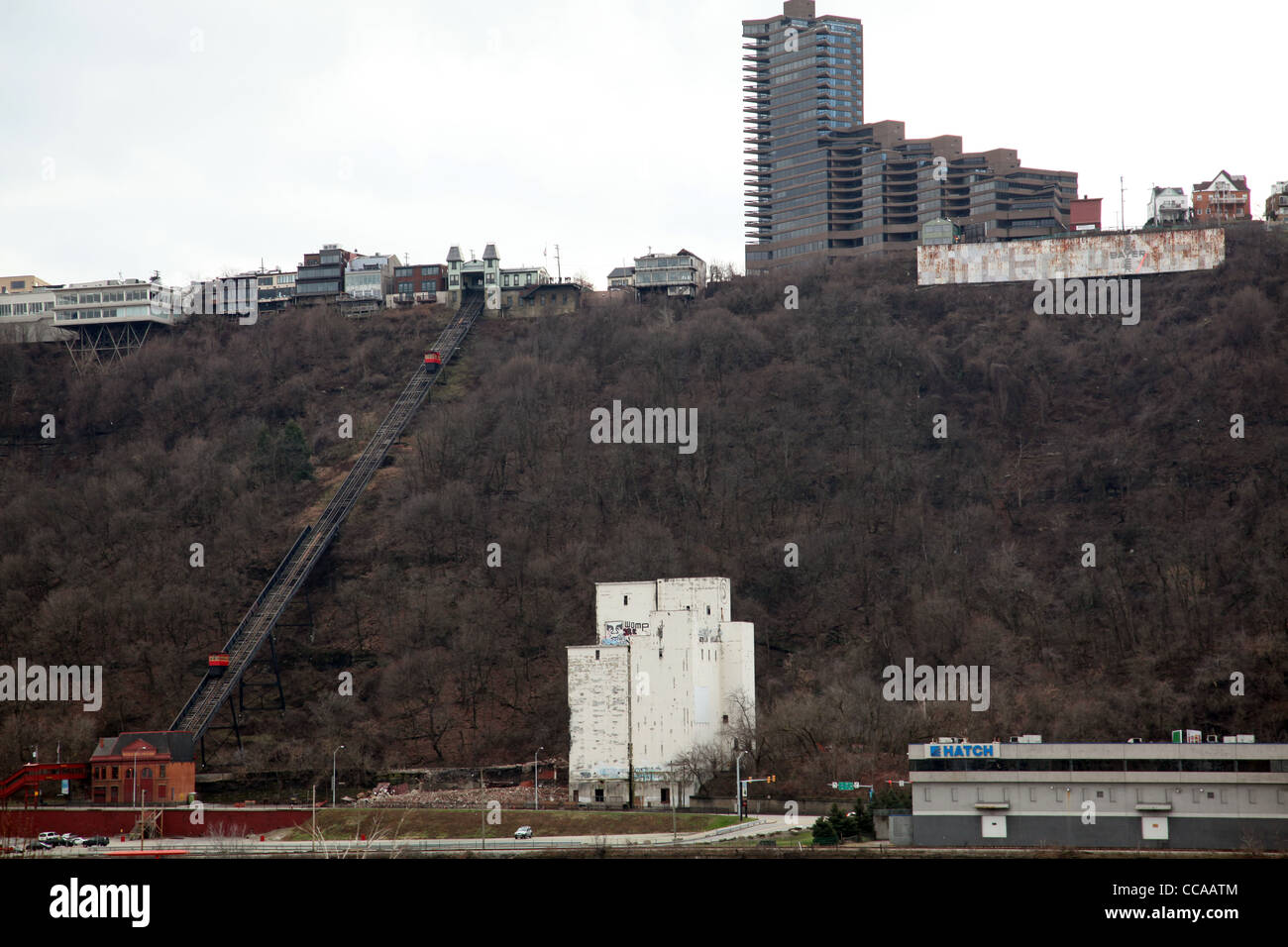 Duquesne Incline, Pitttsburgh, PA, USA - Stock Image