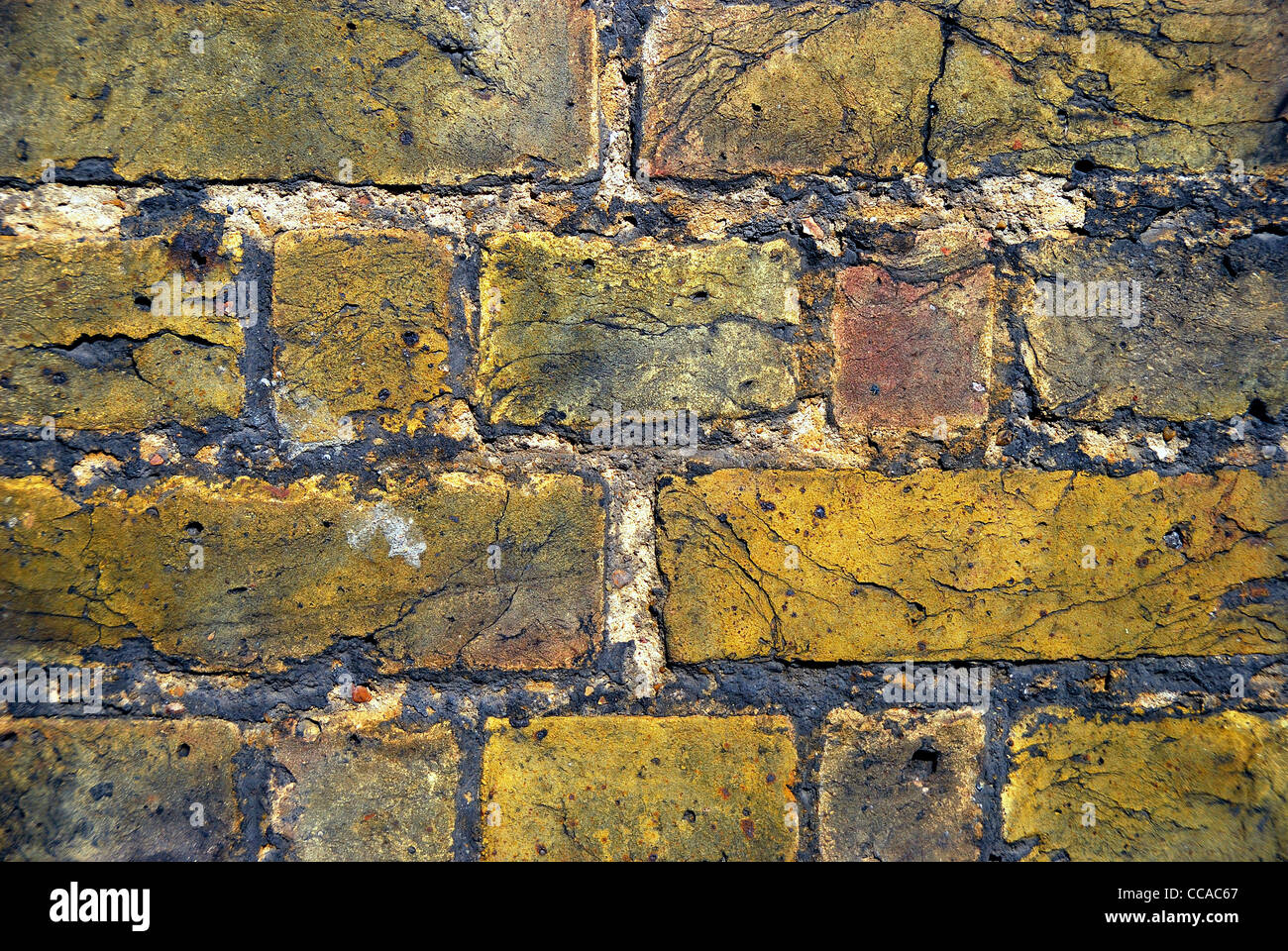 rustic brick wall rough surface - Stock Image