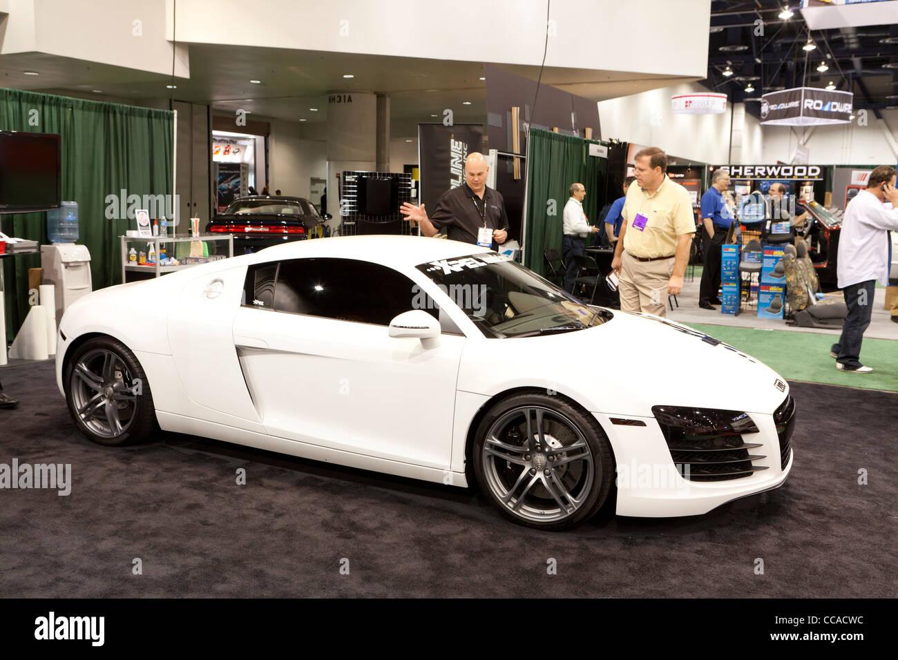 2012 Audi R8 sports car at SEMA - Stock Image