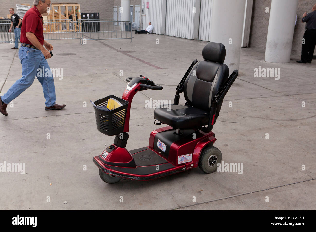 Mobility scooter - Stock Image