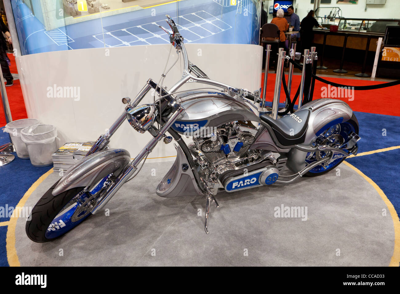 A chopper motorcycle - USA - Stock Image