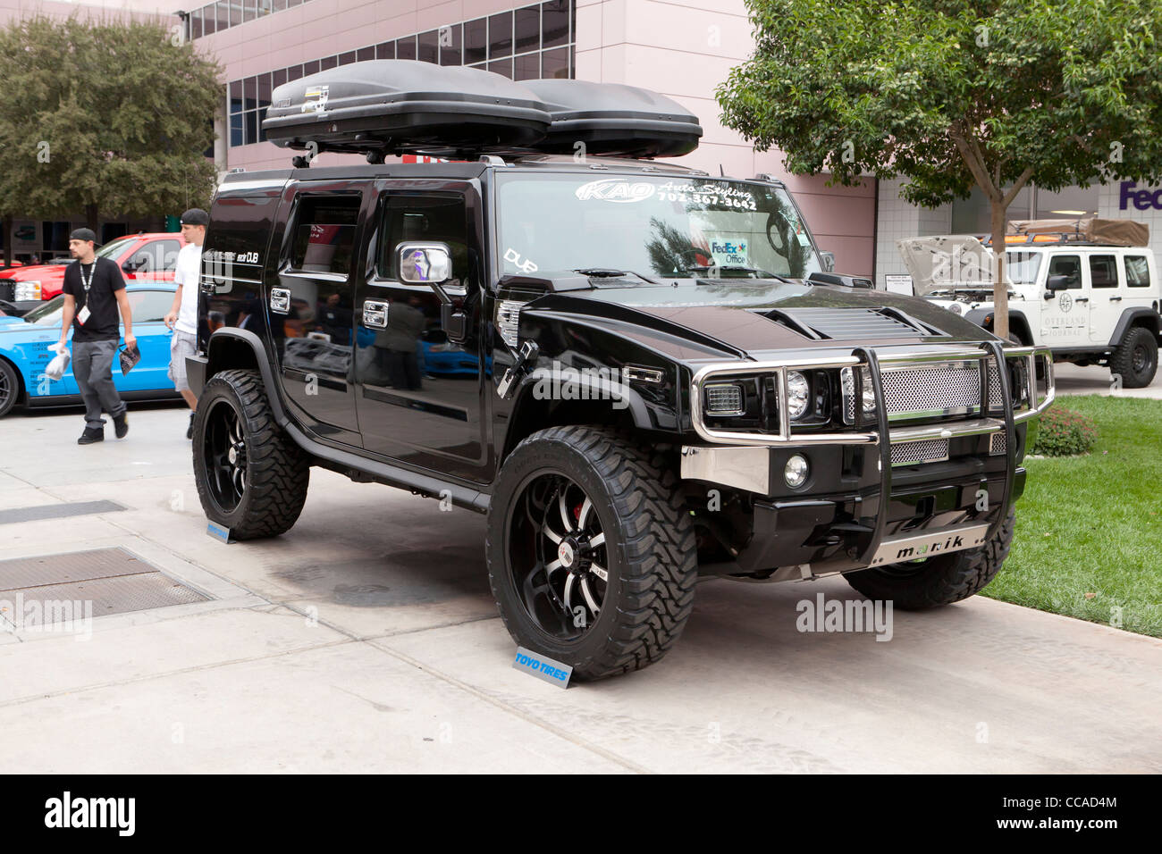 A restyled Hummer H2 - Stock Image