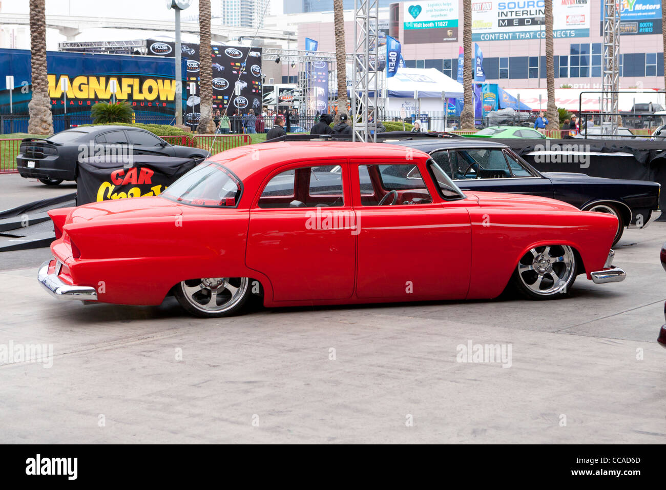 Rebuilt 50s Chevy low rider - Stock Image