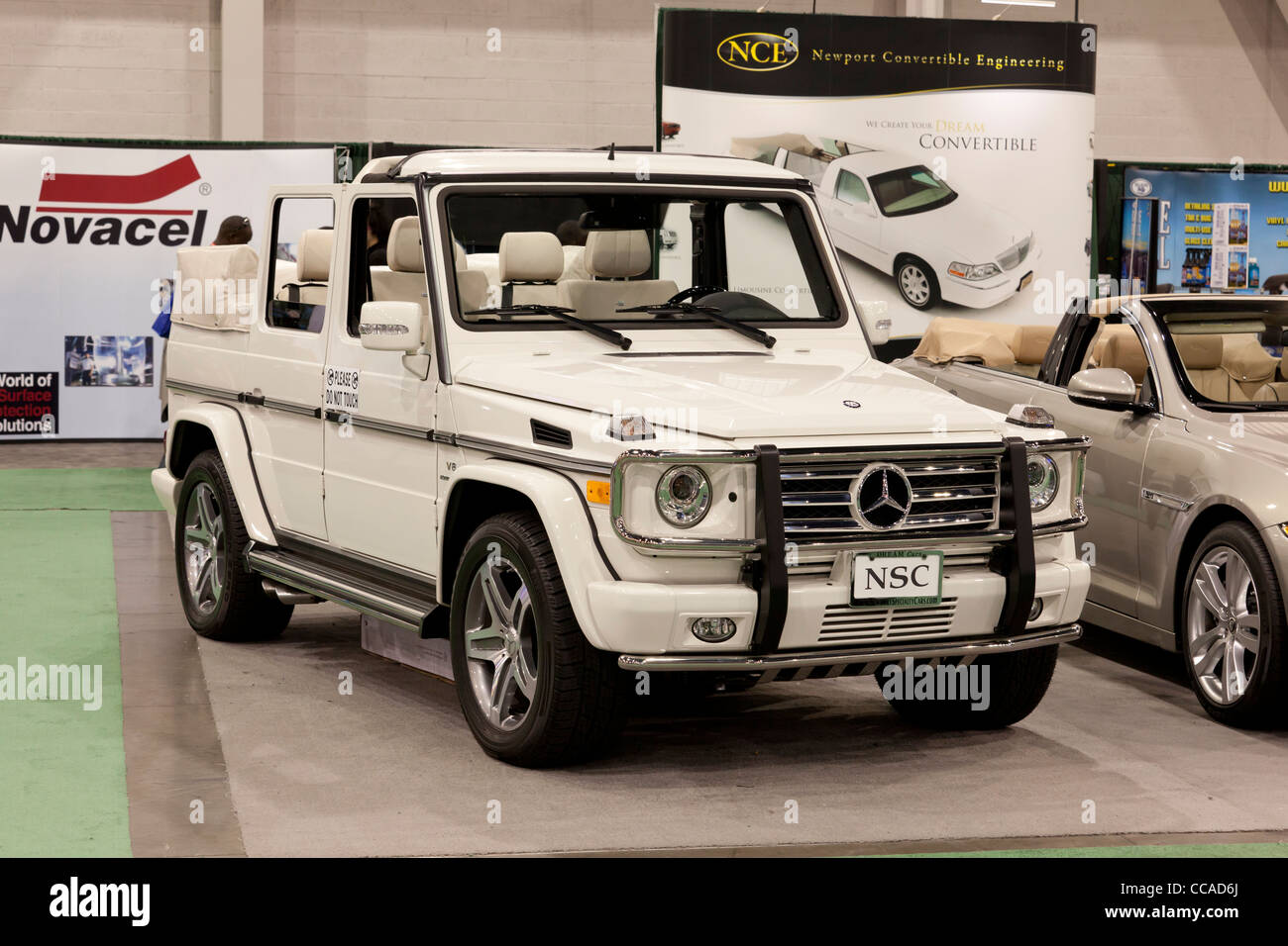Mercedes Benz G-Class cross-country vehicle - Stock Image