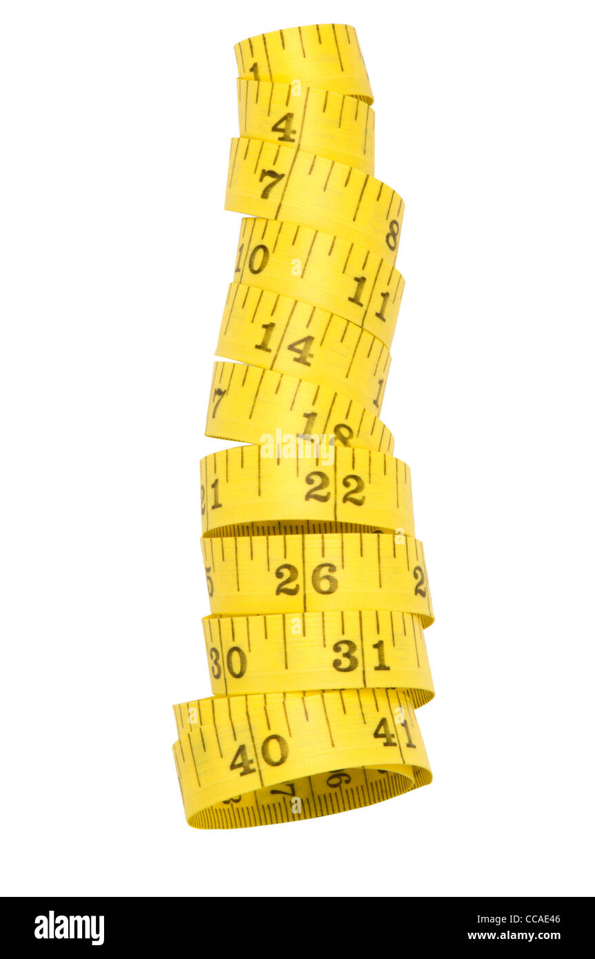 Tape Measure on white - Stock Image