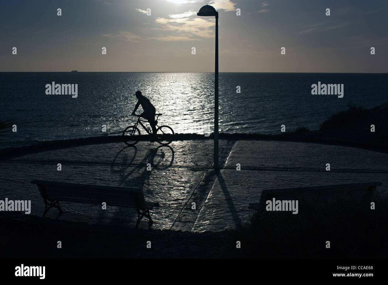 cyclist tenerife spain - Stock Image