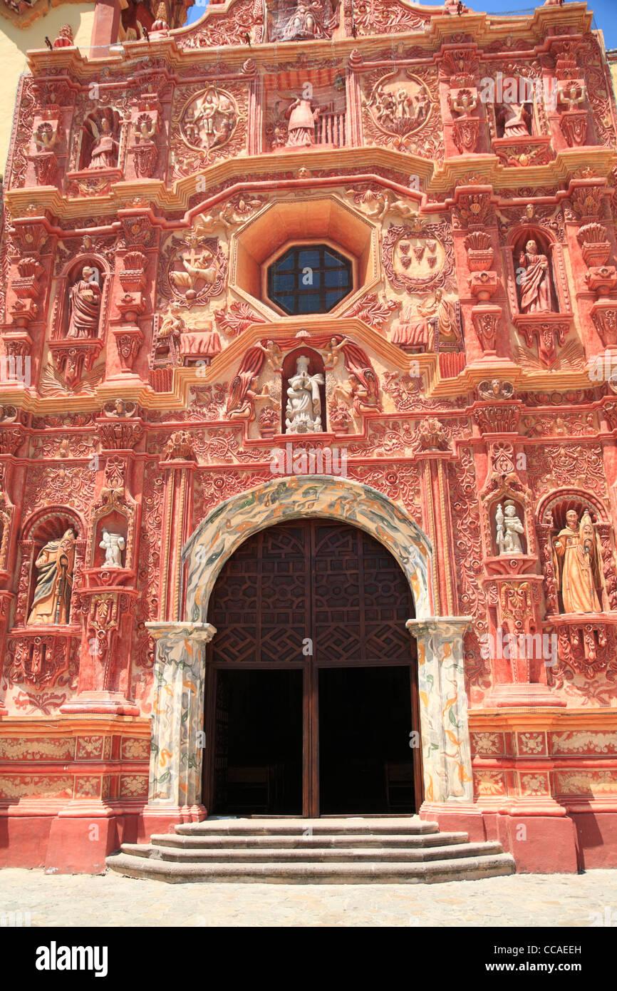 Landa Mission, one of five Sierra Gorda missions designed by Franciscan Friar Junipero Serra, Queretaro, Mexico - Stock Image