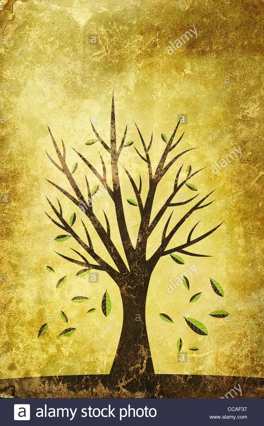 autumn illustration - Stock Image