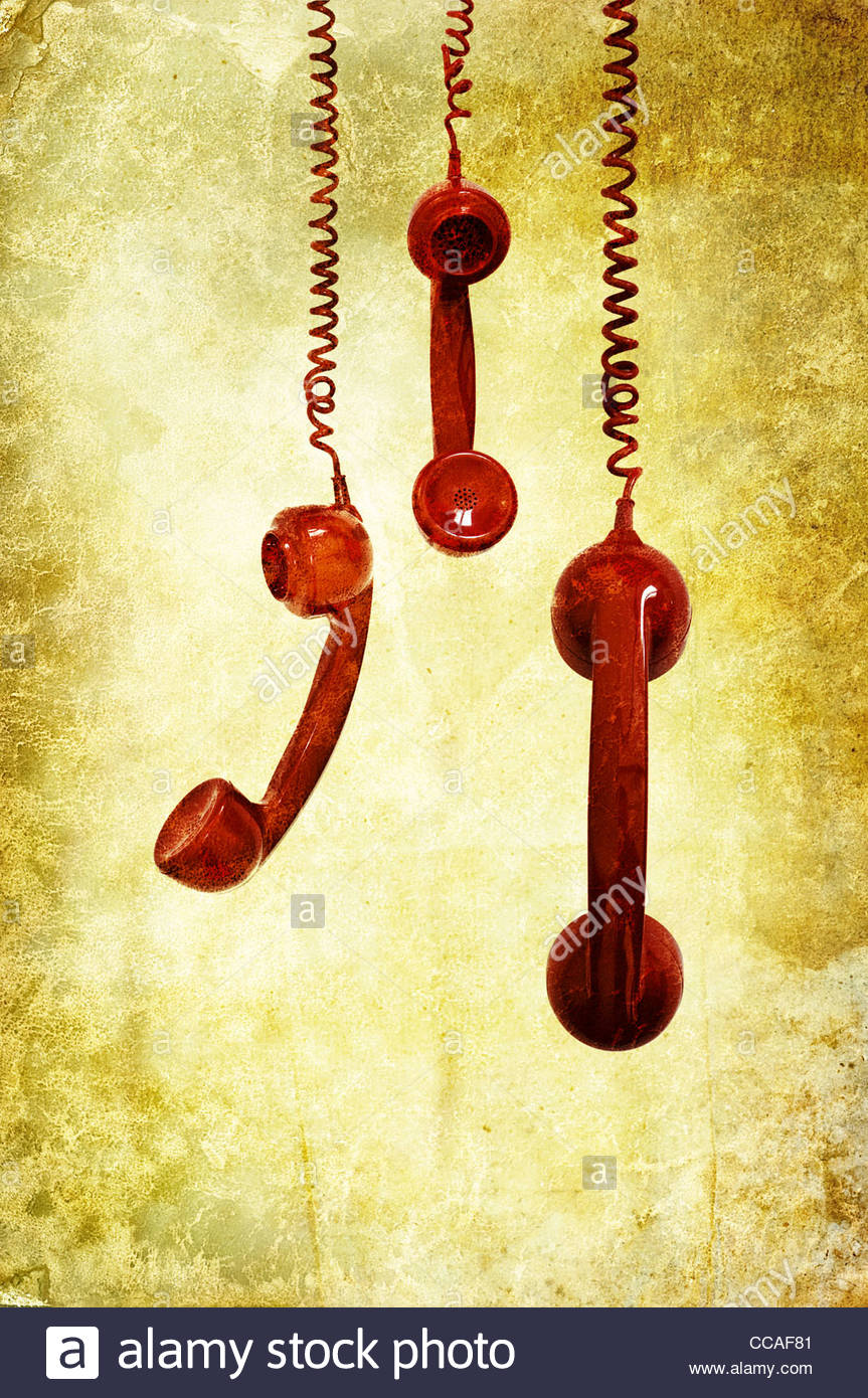 retro phones - Stock Image