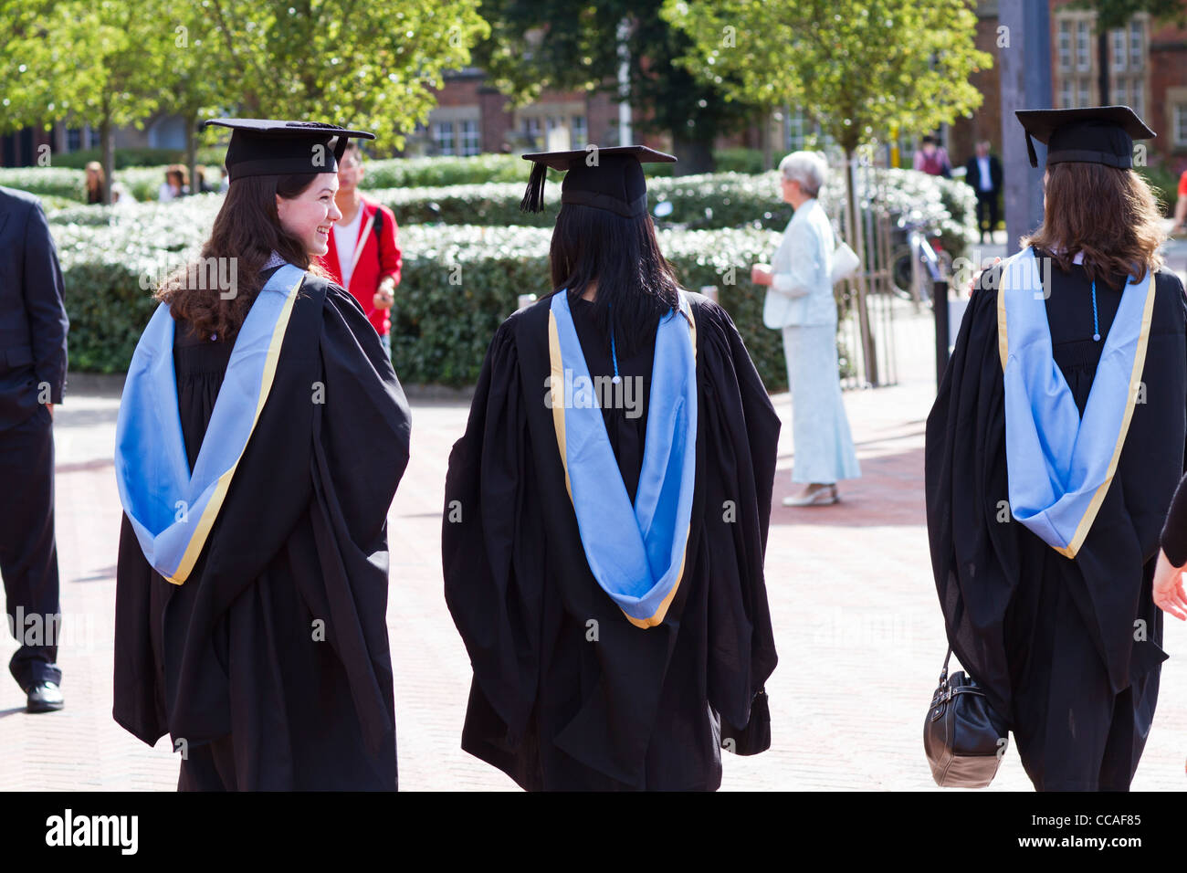 University Of Southampton Graduates Dressed In Their Gowns And Mortar Stock Photo Alamy