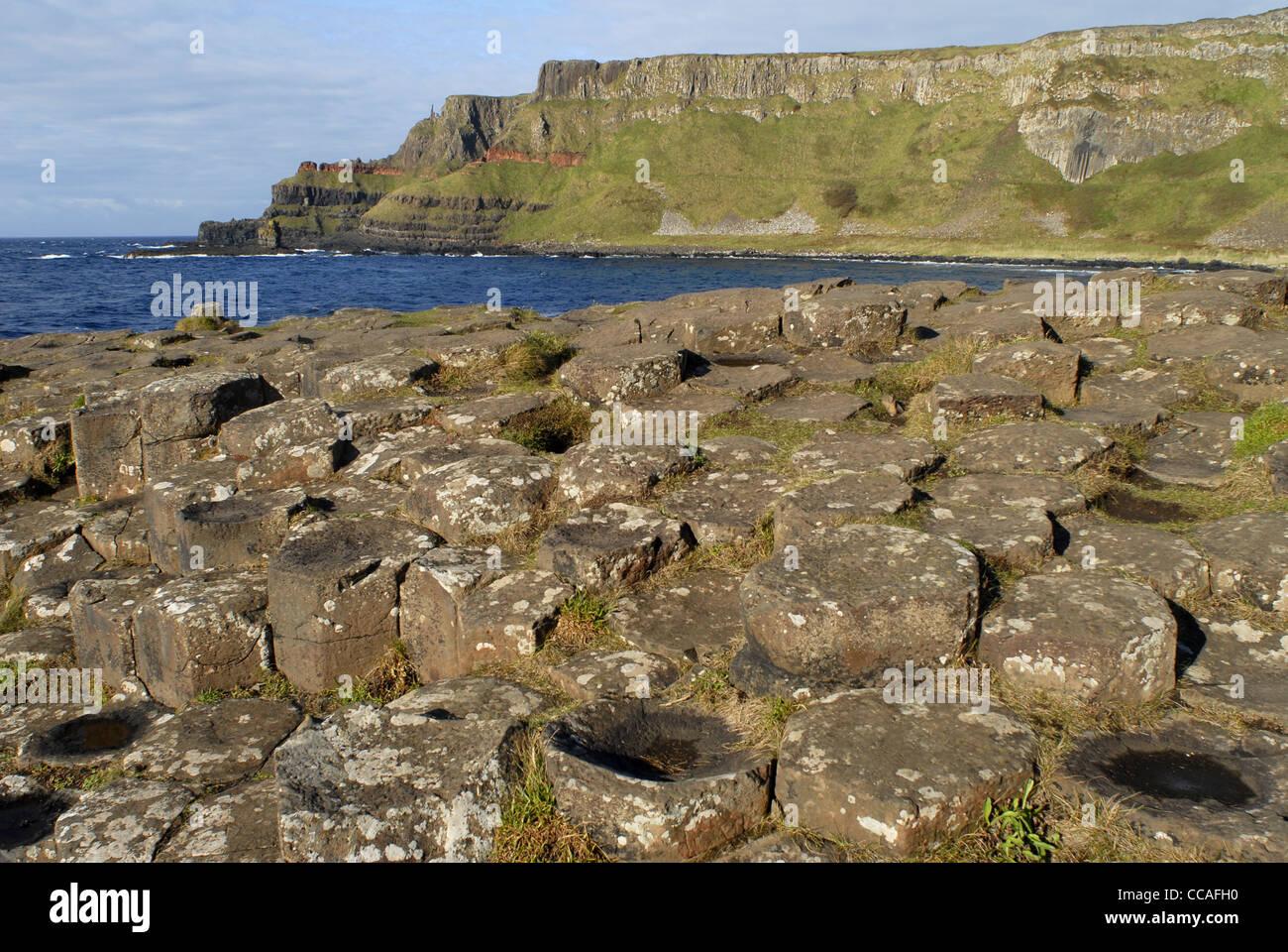 Giant's Causeway, Coastal Road, County Antrim, Ulster, North Ireland, UK, Europe. - Stock Image
