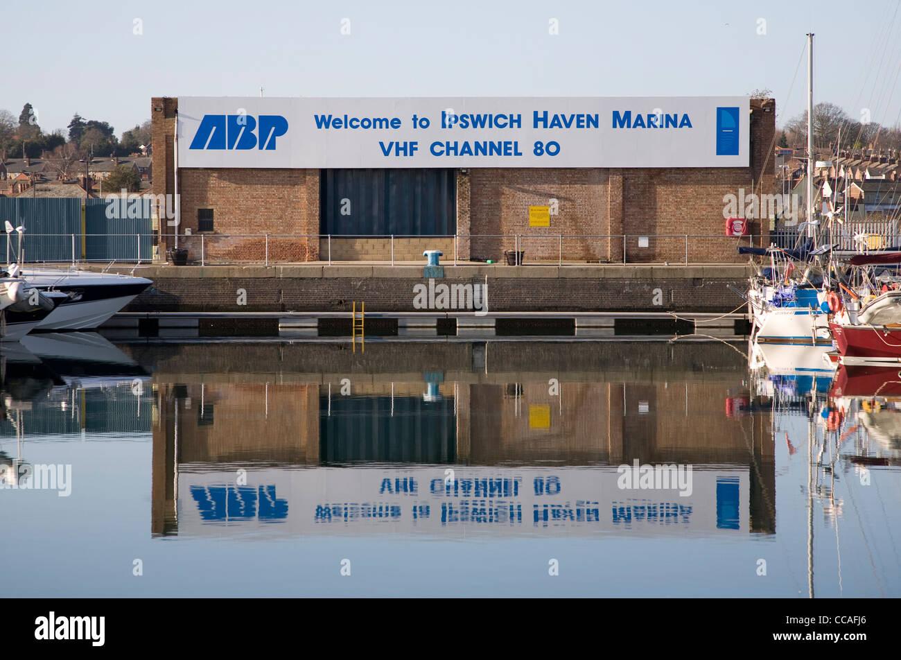 ABP VHF radio channel sigh Haven Marina Ipswich - Stock Image