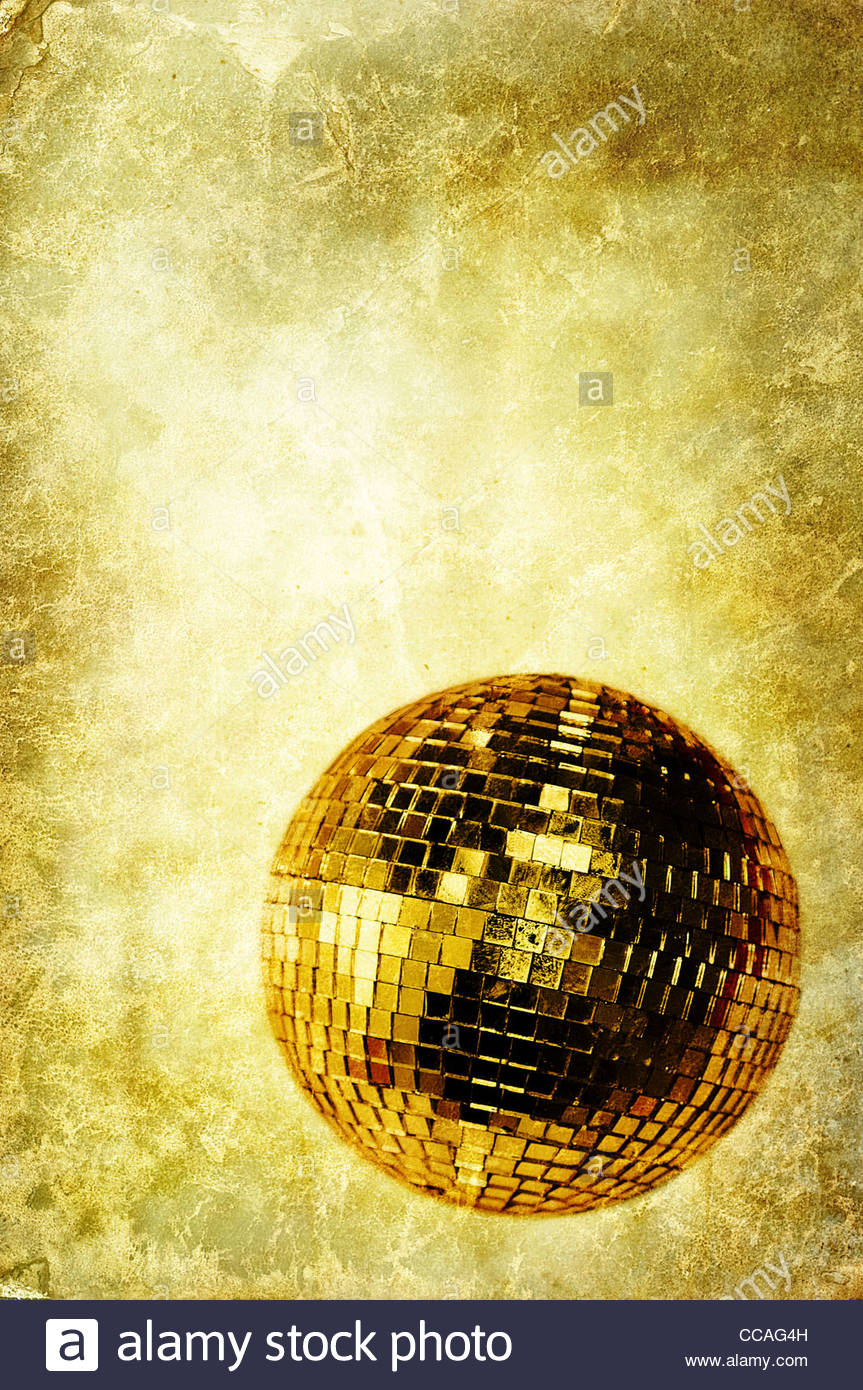 vintage disco ball - Stock Image