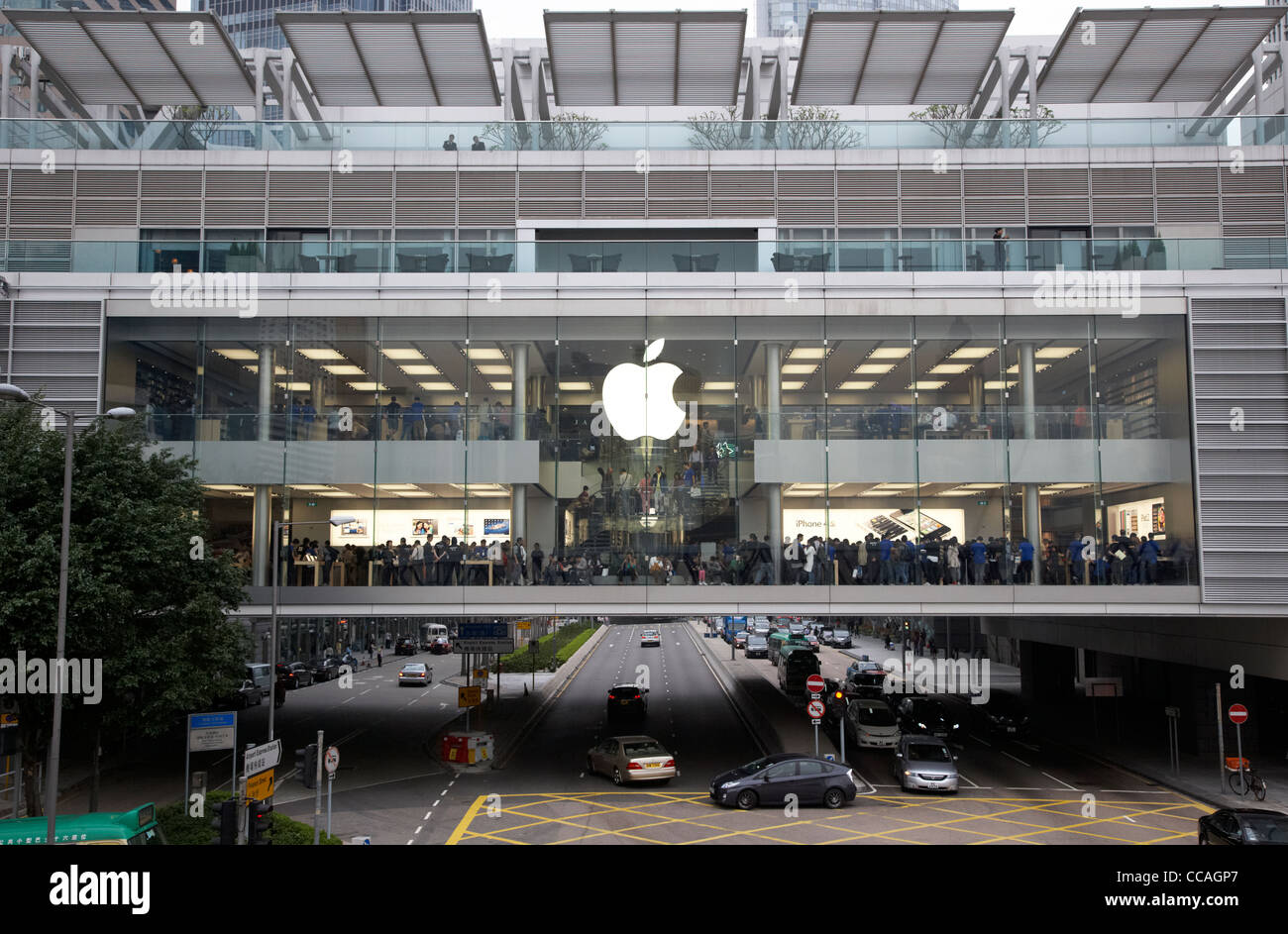 the apple store in the ifc mall in central hong kong hksar china asia Stock Photo