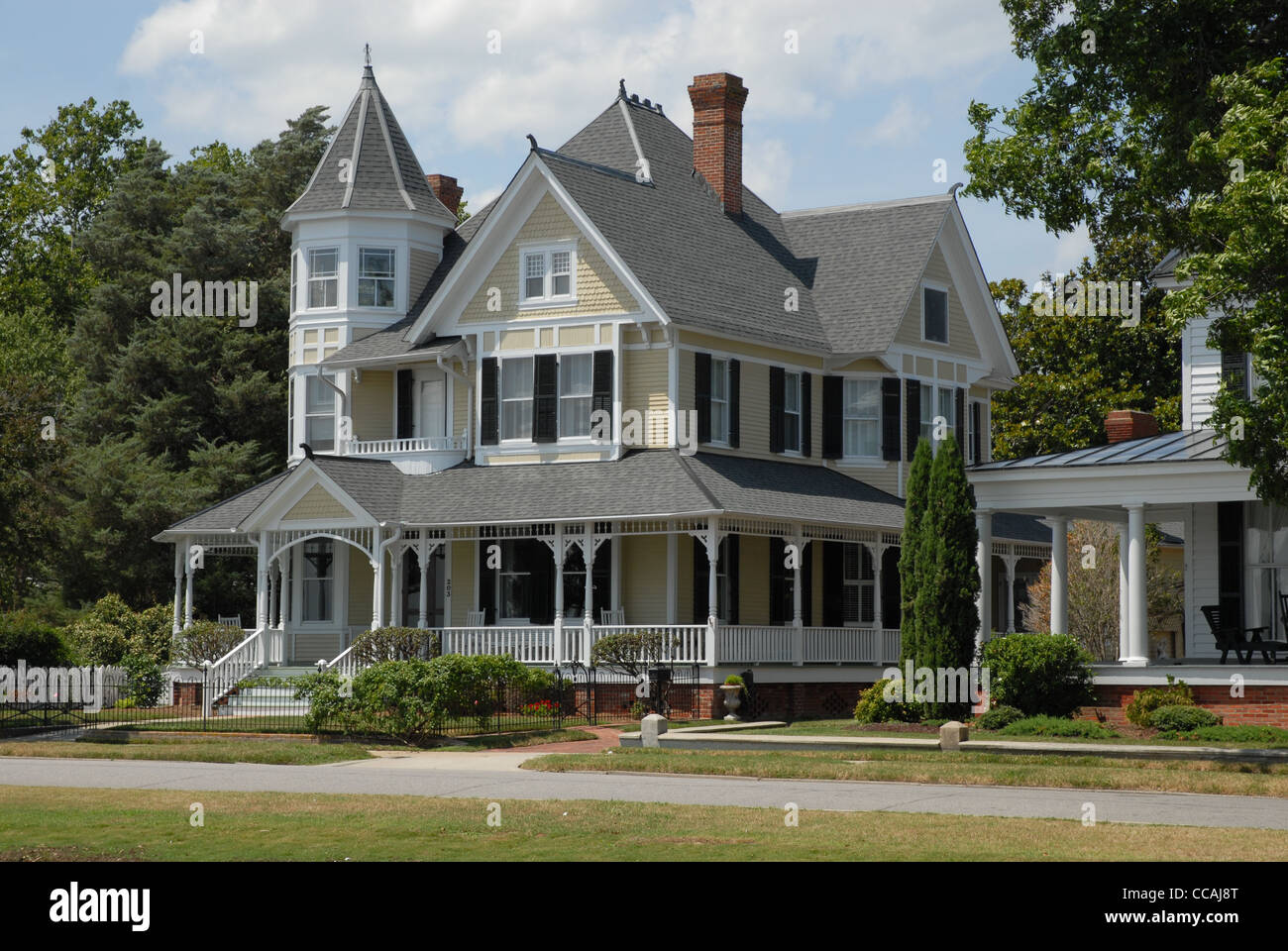 A Victorian House in Edenton, NC. - Stock Image