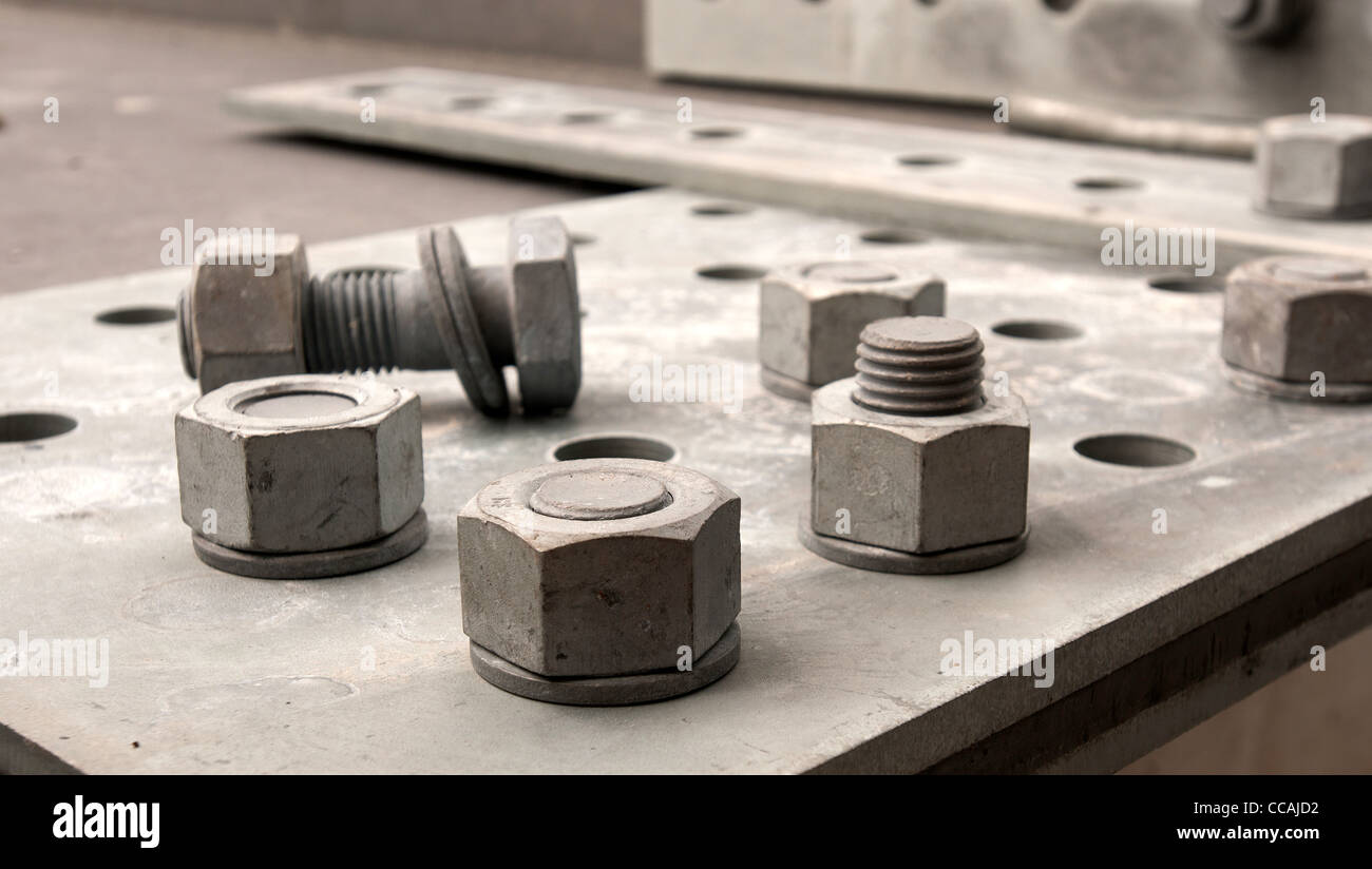 Bolts and screws - Stock Image