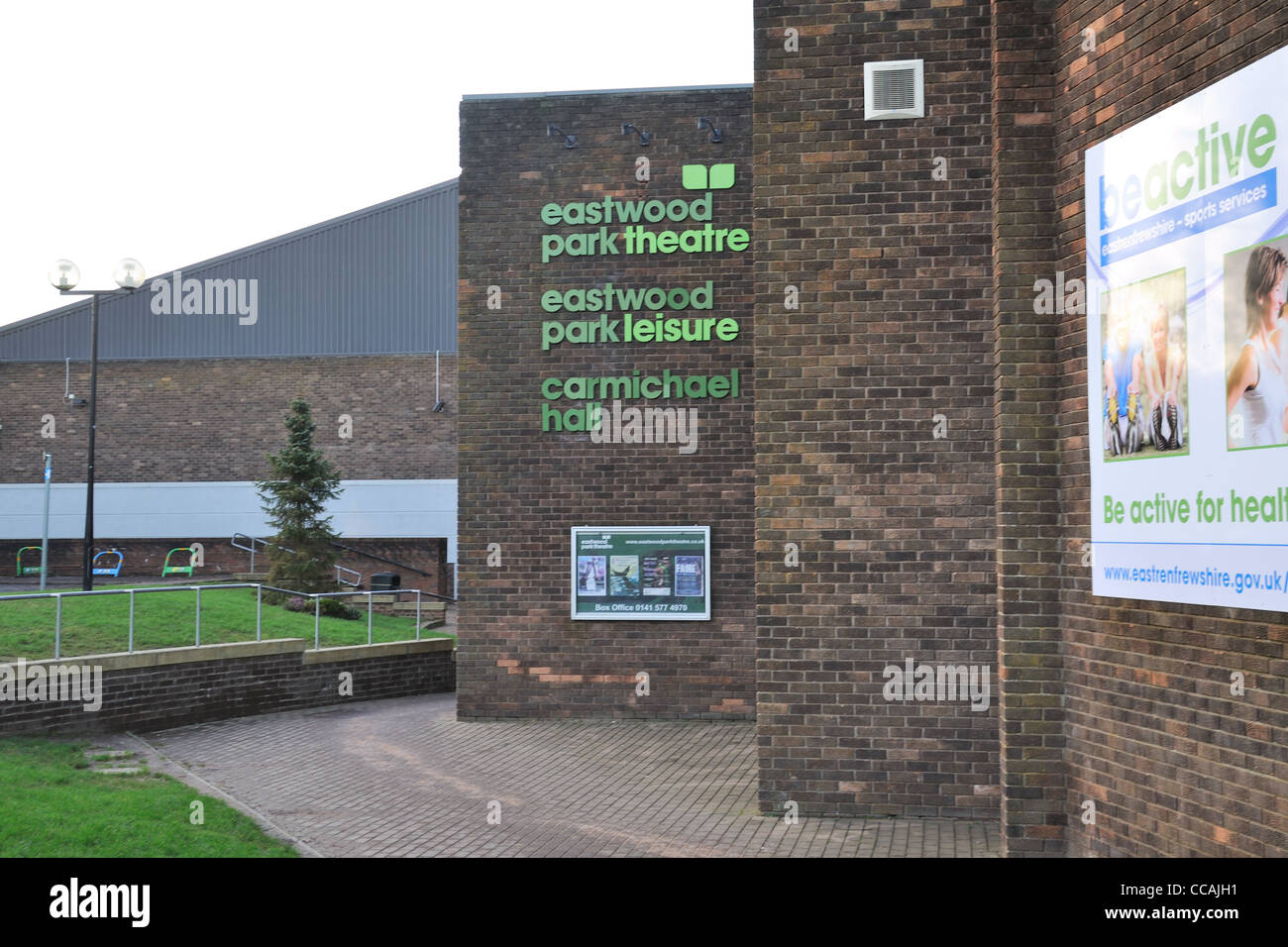This is the Eastwood Park theatre and leisure centre, East Renfrewshire, Scotland - Stock Image