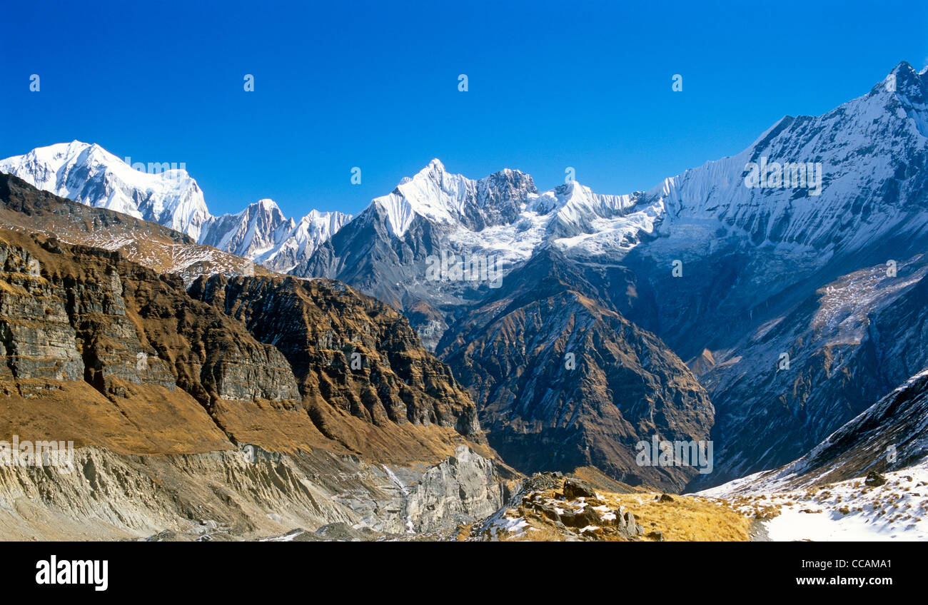 Himalayas Langtang Nepal Asia - Stock Image