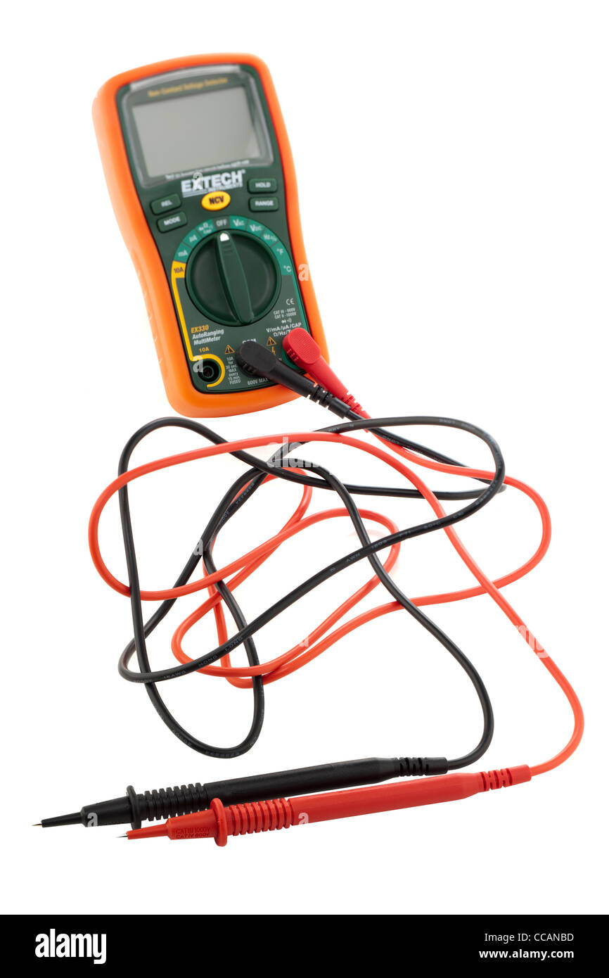 Extech ex330 multimeter and probes - Stock Image