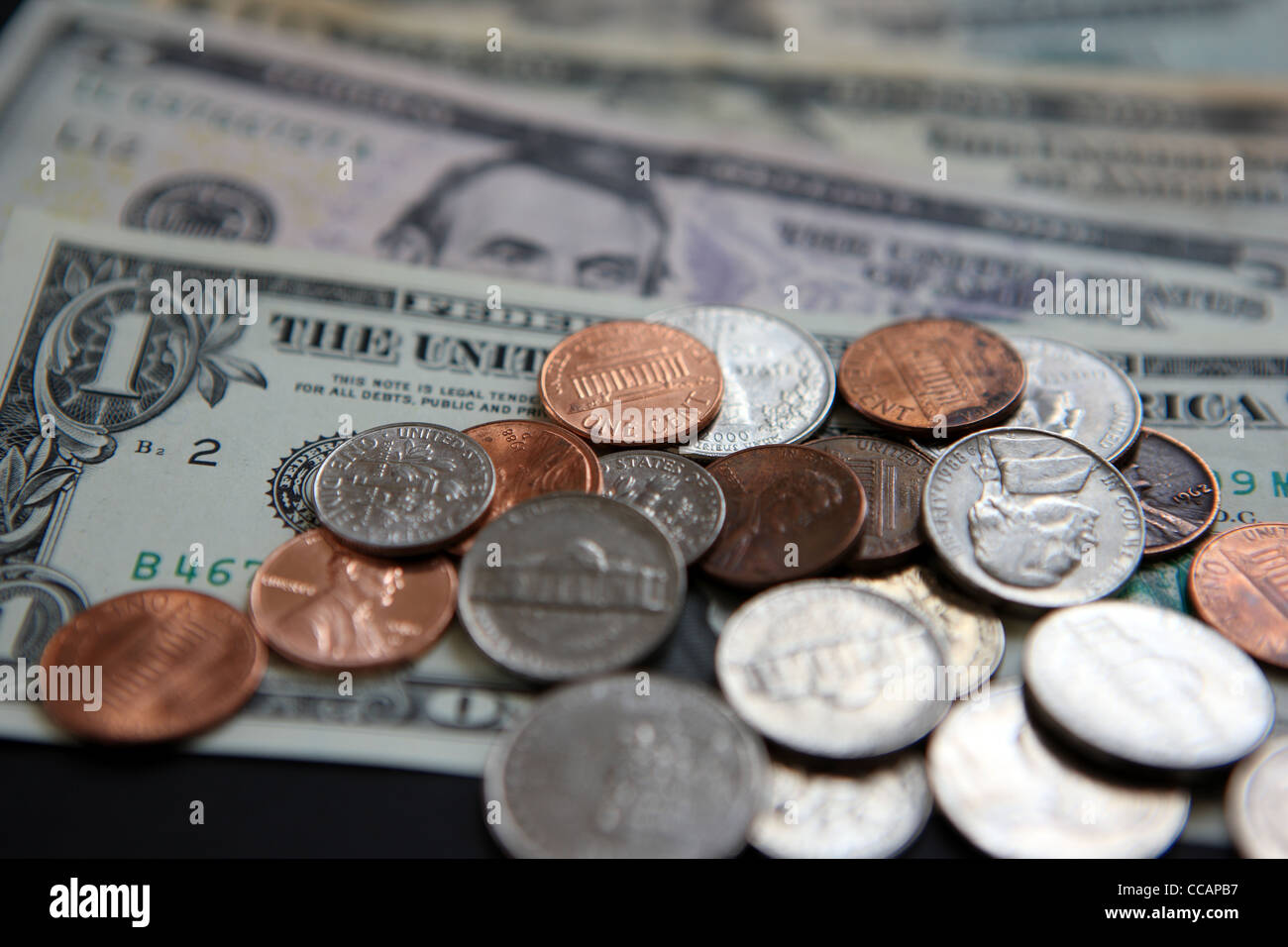 Us Dollars And Cents Stock Image