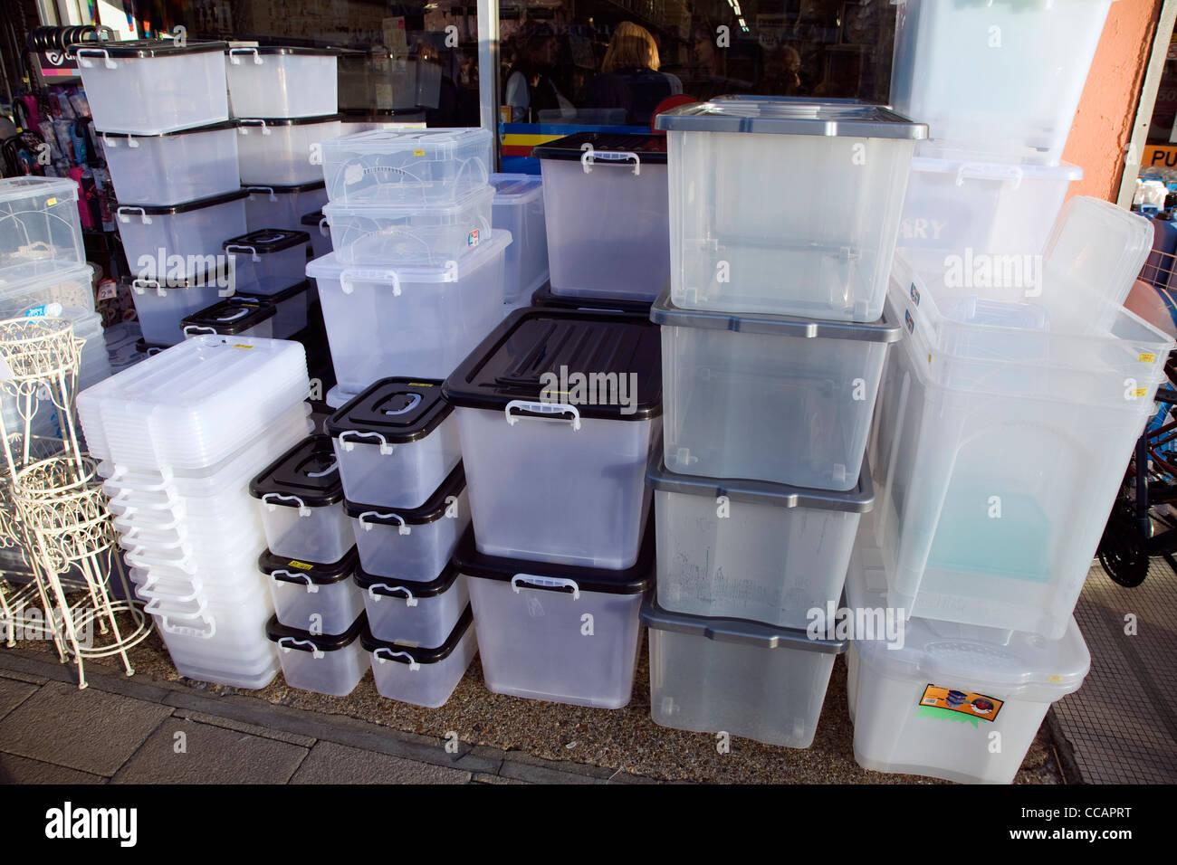 Plastic storage containers on sale Stock Photo 42034044 Alamy