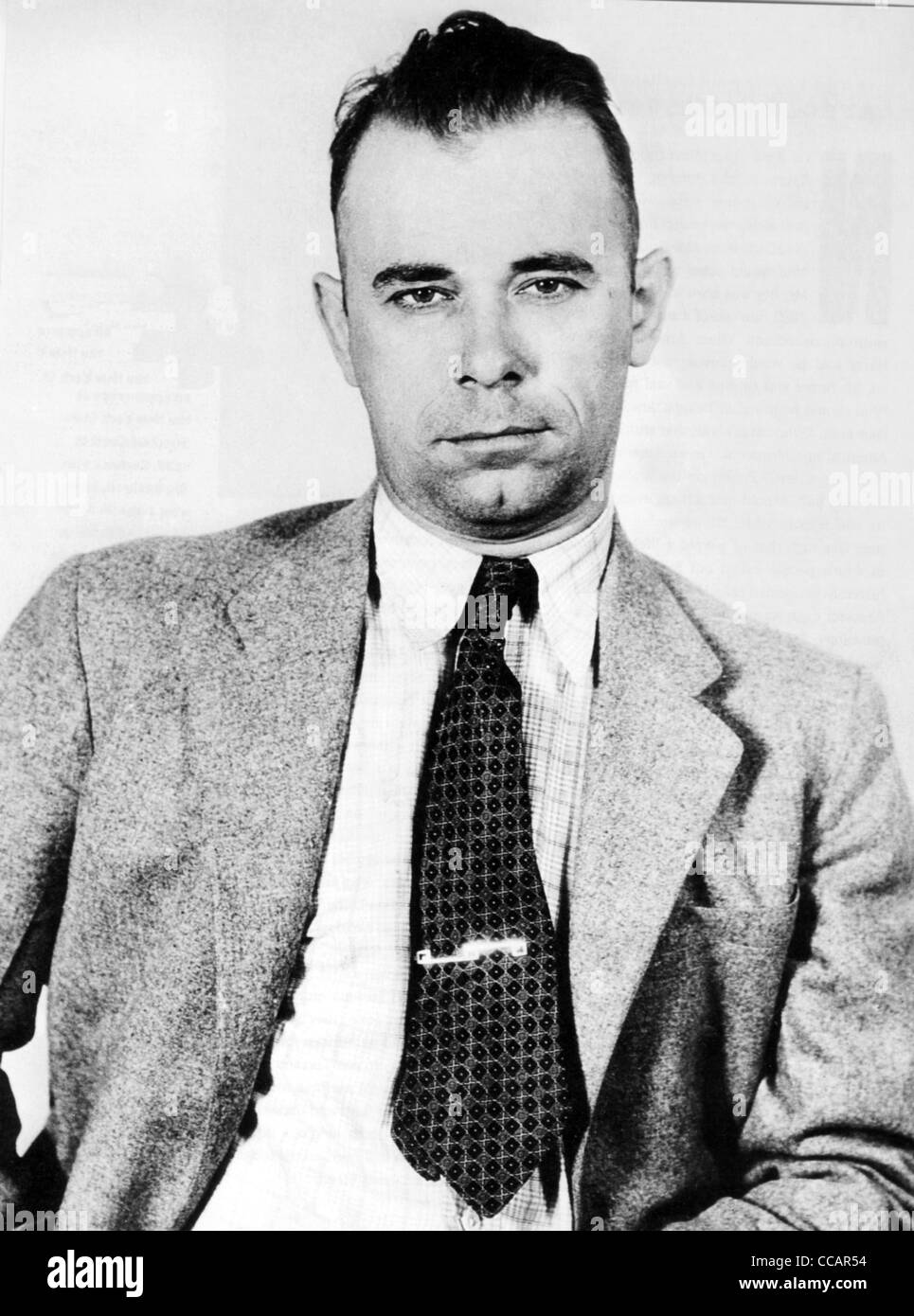 JOHN DILLINGER (1903-1934)  US bank robber in an NYPD photo about 1934 - Stock Image