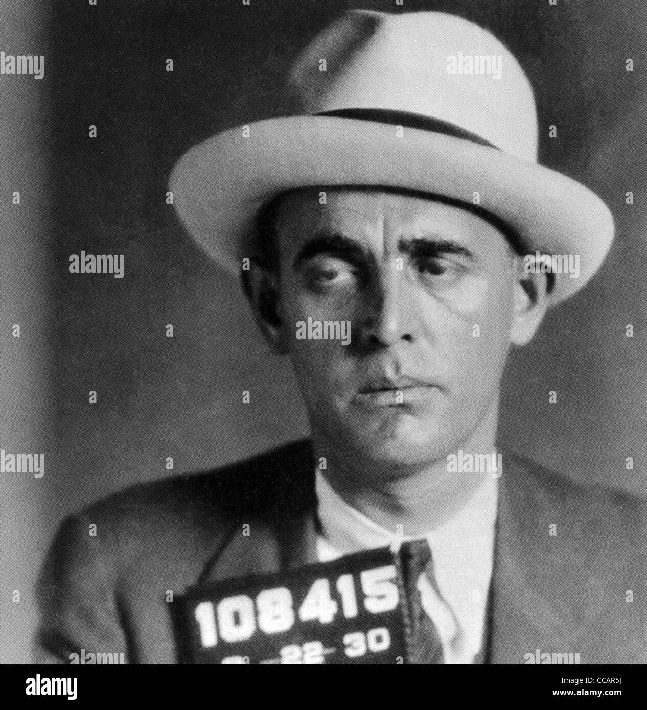 JACK 'LEGS'  DIAMOND (1897-1931) Irish-American gangster in a 1930 police photo - Stock Image
