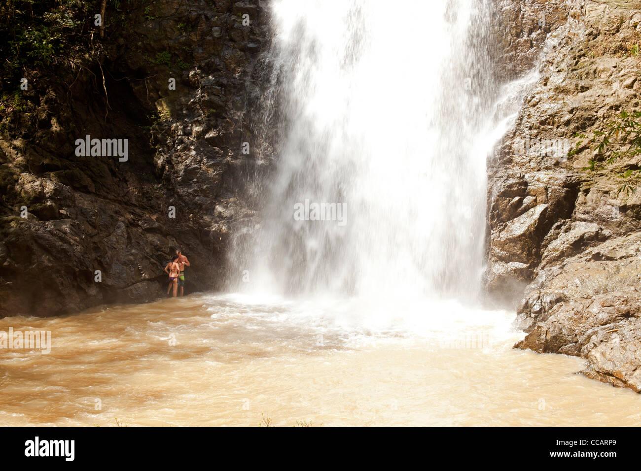 Montezuma Waterfall, Montezuma, Nicoya Peninsula, Costa Rica, Central America - Stock Image