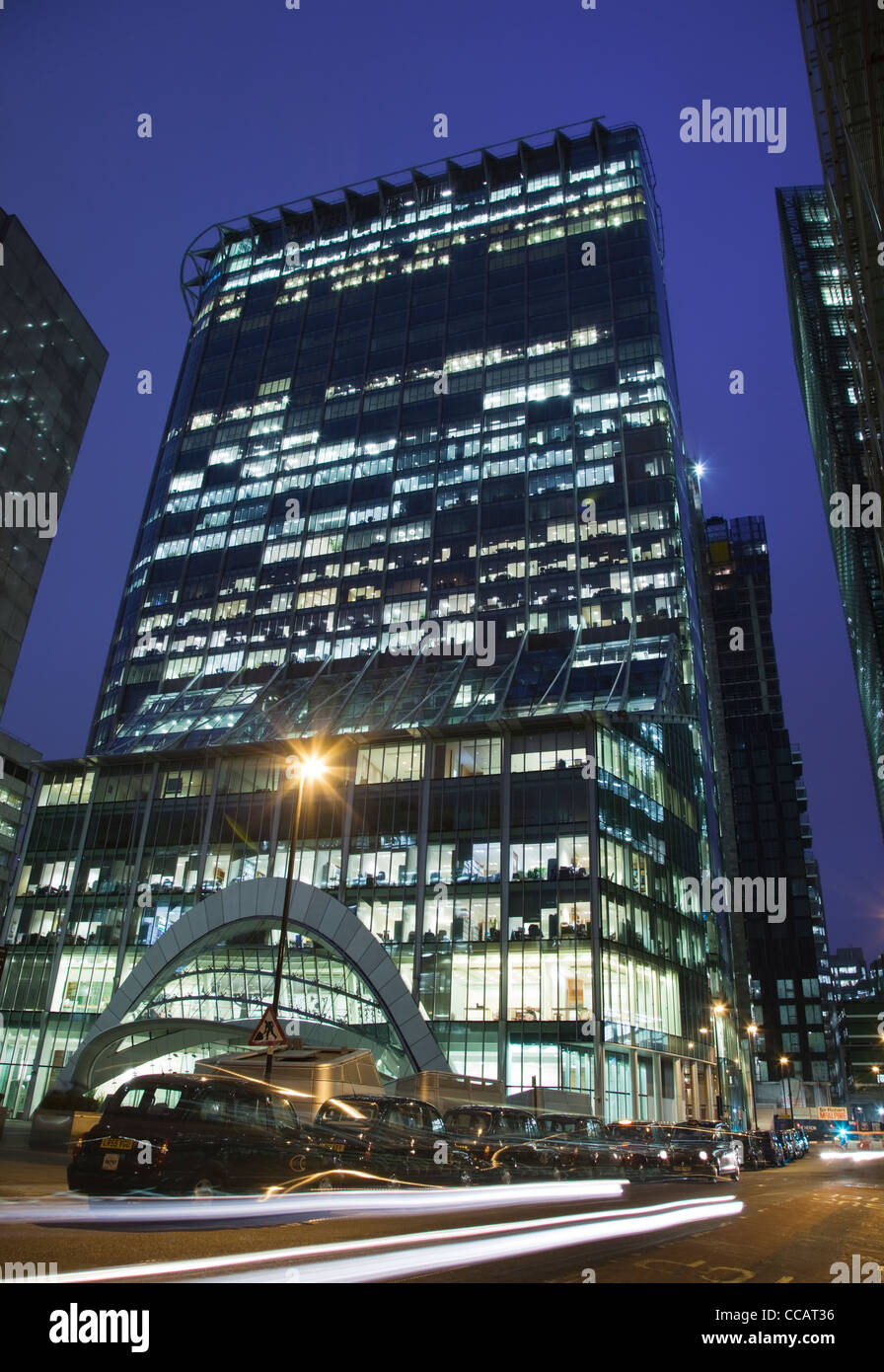 CityPoint Building in the City of London at dusk - Stock Image