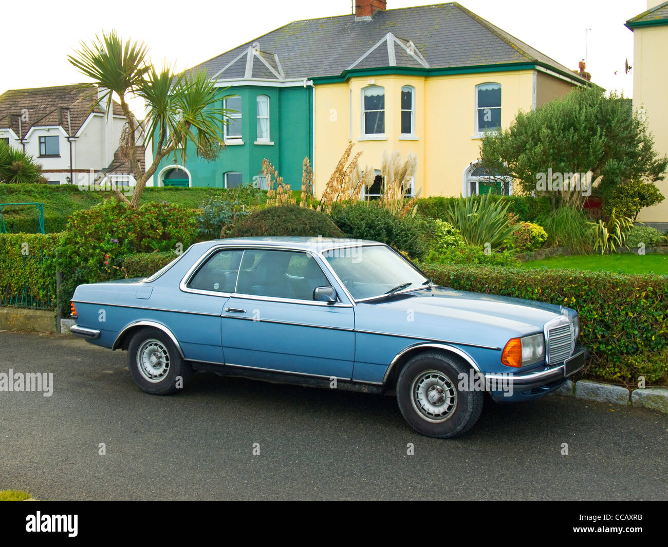 A 1985 registered Mercedes Benz 230 CE saloon car in excellent exterior condition - Stock Image