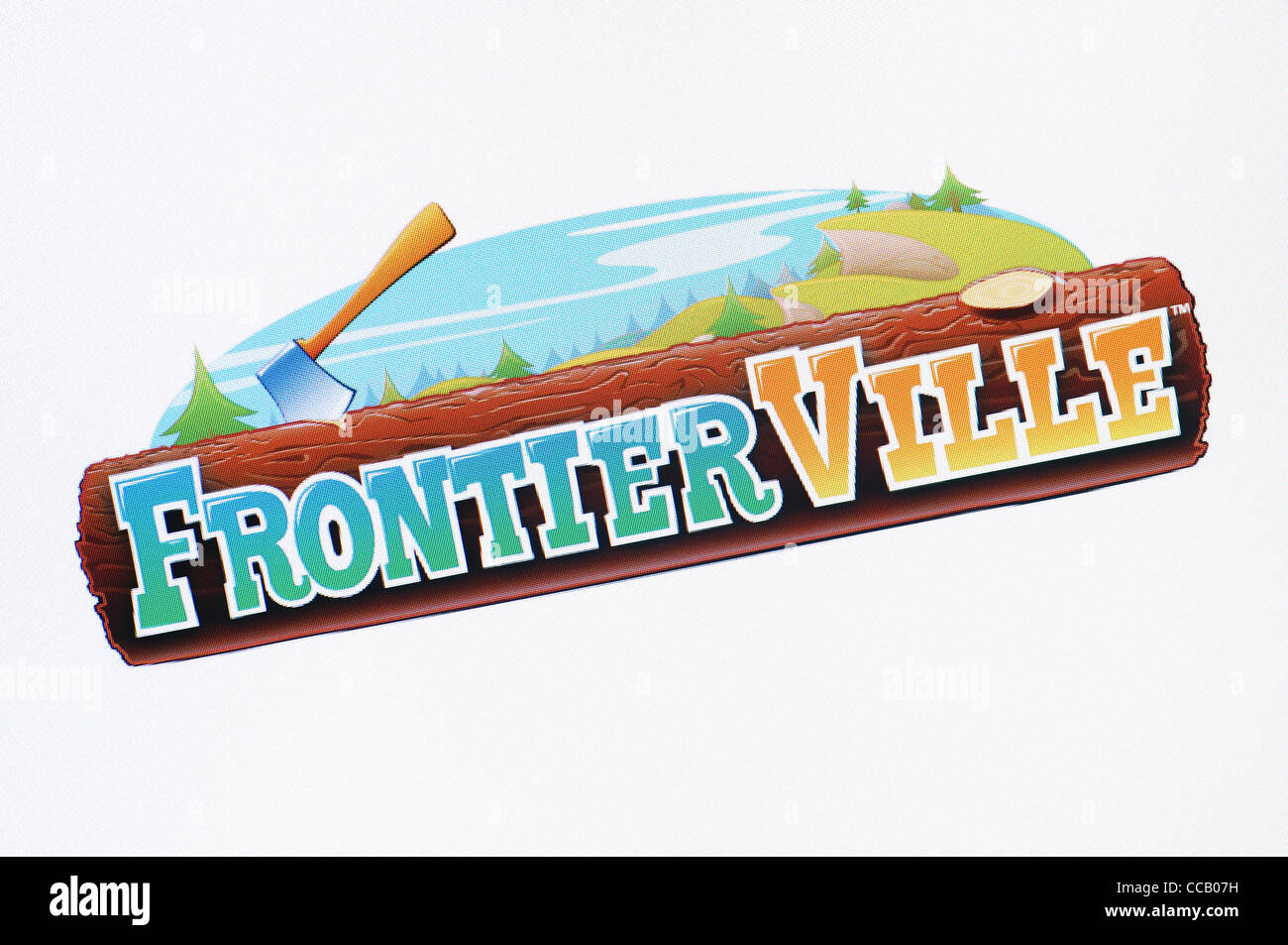 Frontierville Screenshot. The Simulation Social Network Game by Zynga. Also known as Pioneer Trail. - Stock Image