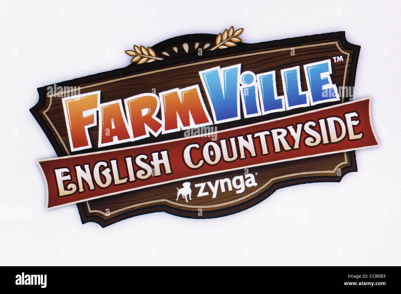Farmville English Countryside Screenshot. The Farming Simulation Social Network Game by Zynga. - Stock Image