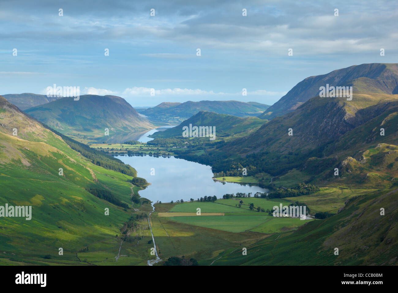 Buttermere and Crummock Water. Lake District National Park. Cumbria. England. UK. Stock Photo
