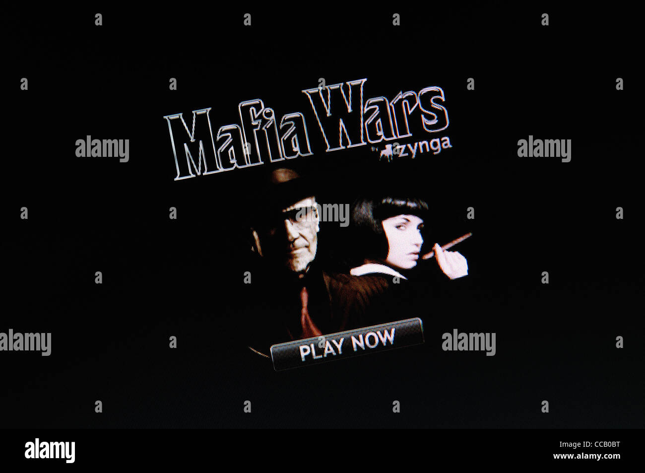 Mafia Wars Screenshot. - Stock Image