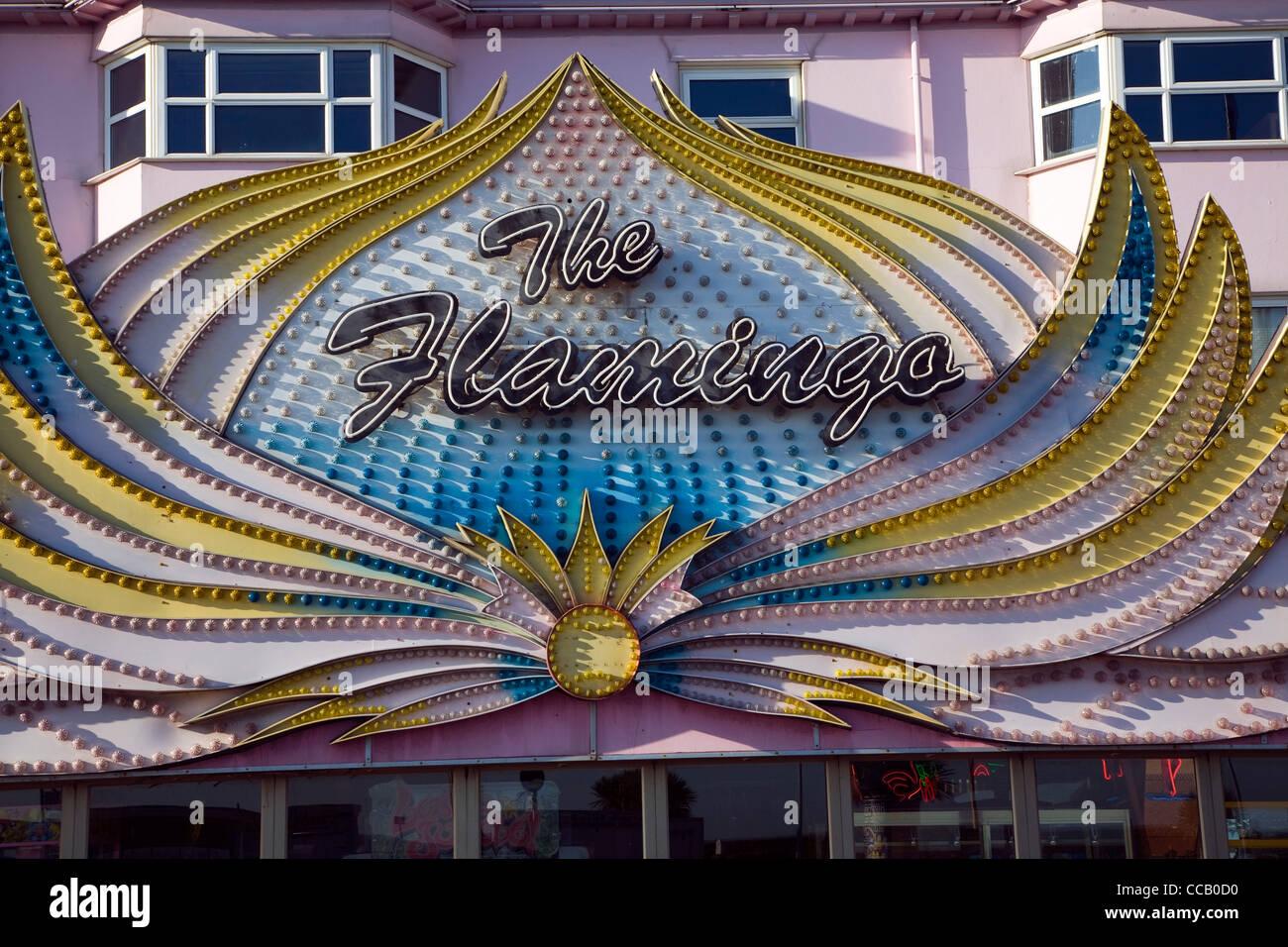 The Flamingo amusements Great Yarmouth - Stock Image