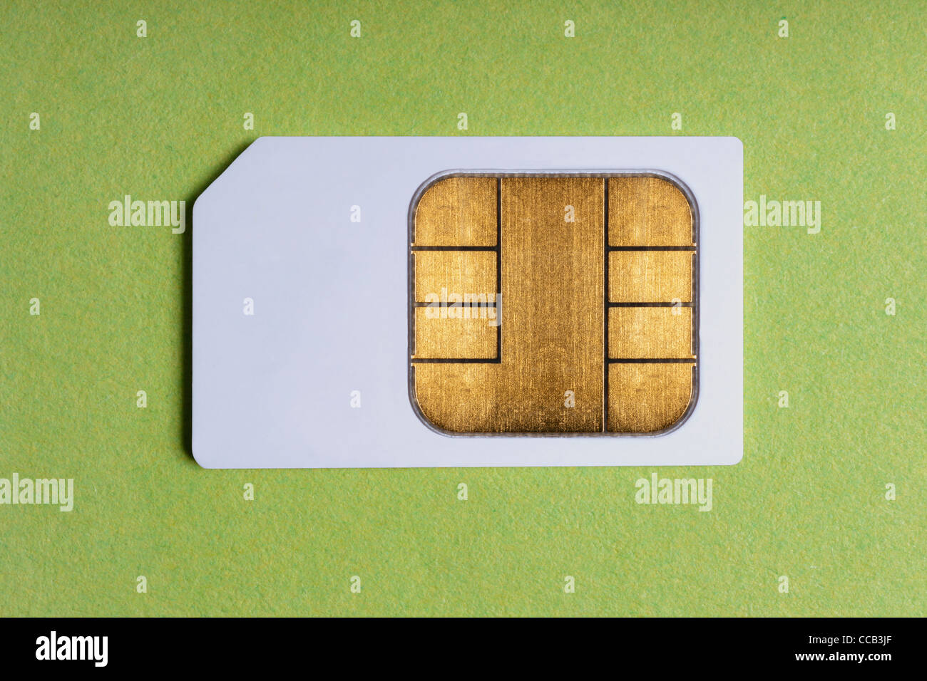 Detailansicht einer SIM-Karte | Detail photo of a SIM Card - Stock Image