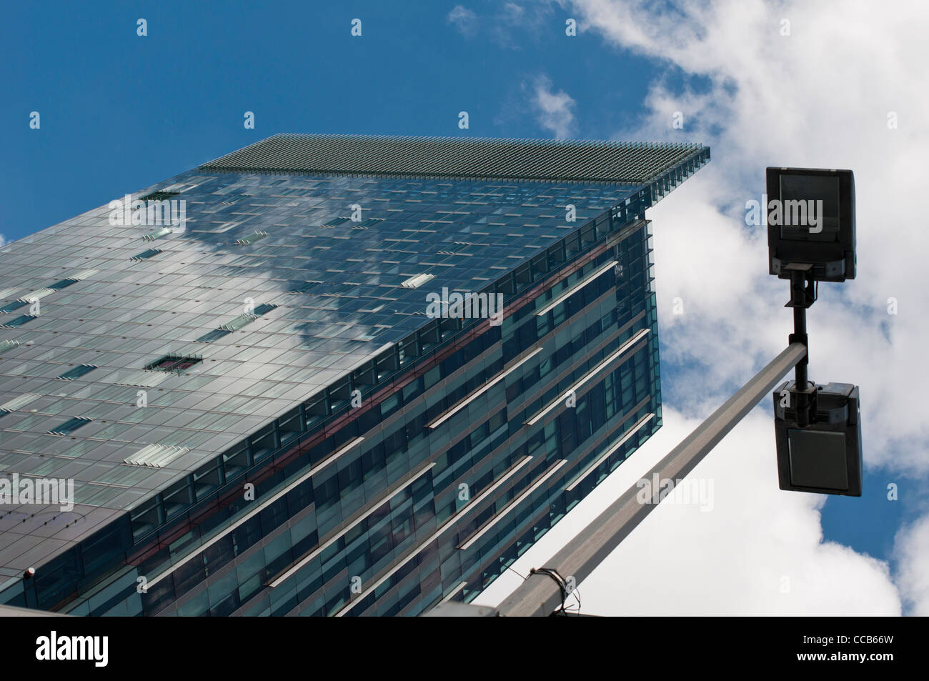 Beetham Tower, home of the Hilton Hotel, Deansgate, Manchester Stock Photo