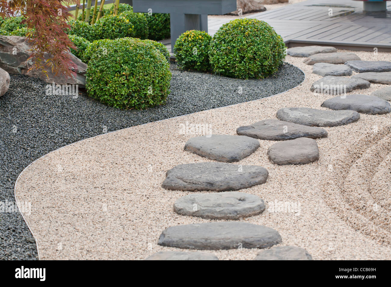 Japanese Garden Stones Steping stones on gravel pathway in japanese garden stock photo steping stones on gravel pathway in japanese garden workwithnaturefo