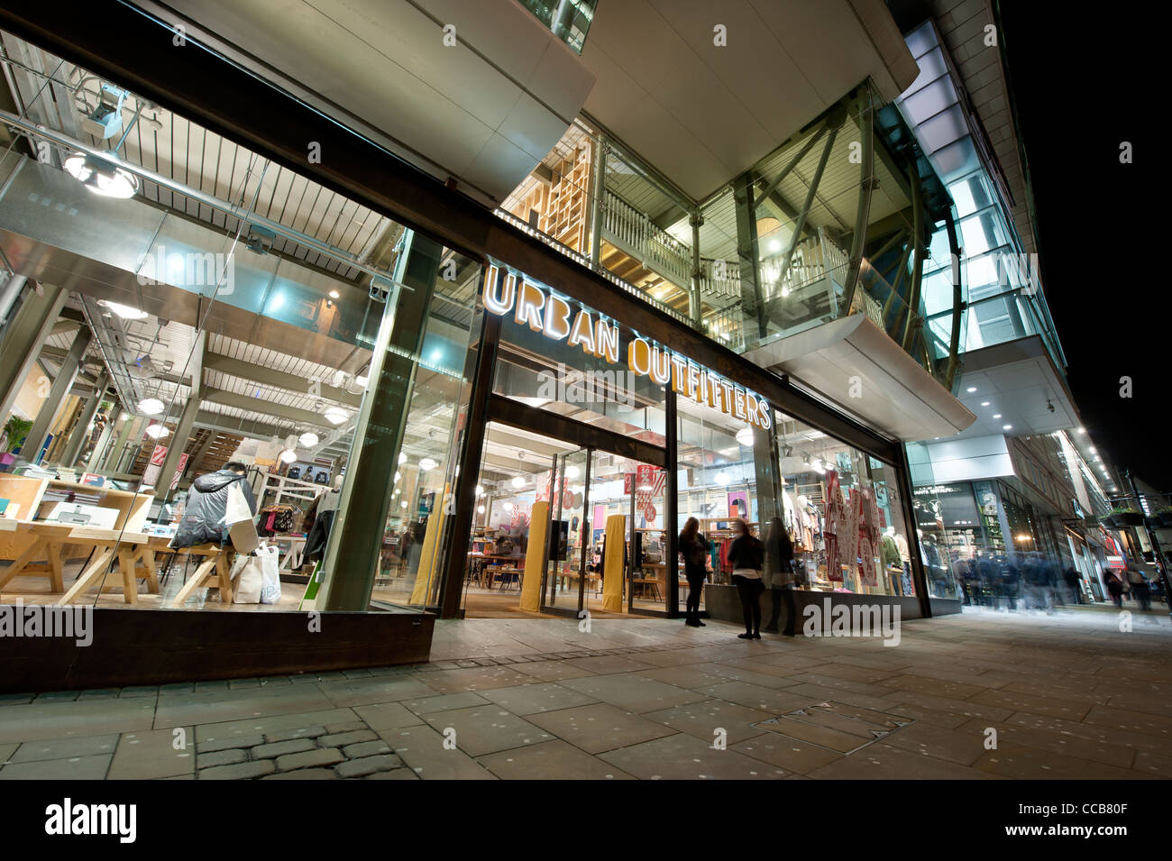 The High Street clothing shop ,Urban Outfitters, located on Market Street in Manchester city centre, UK (Editorial - Stock Image
