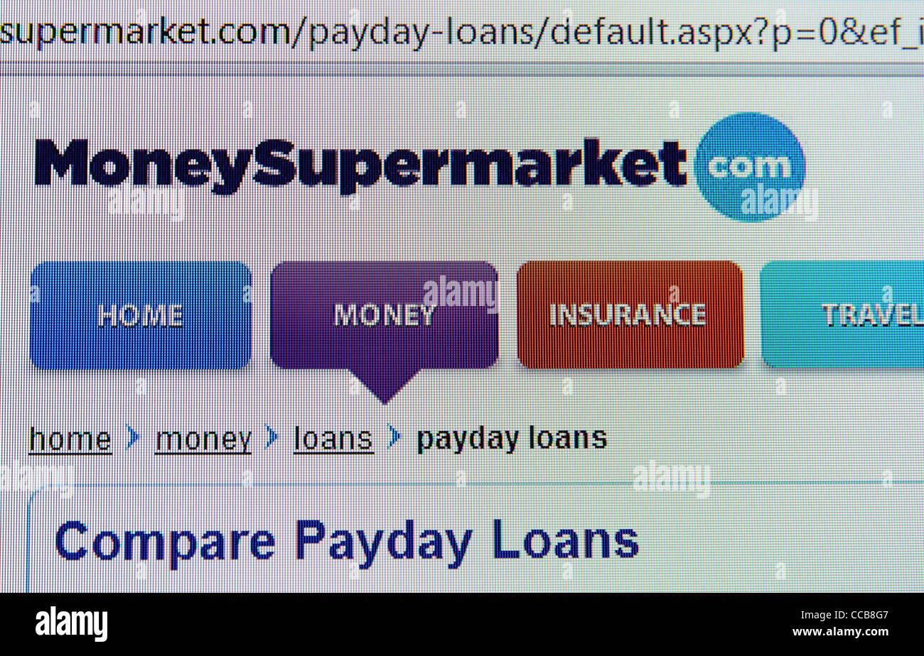 moneysupermarket.com price comparison web site - Stock Image