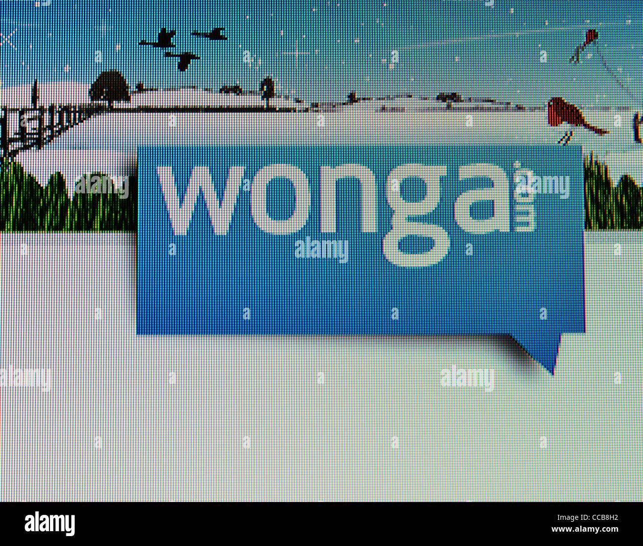 wonga.com instant cash loans web site - Stock Image