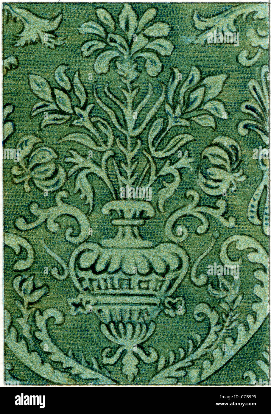 The Pattern On The Velvet Fabric 17th Century Stock Photo Alamy