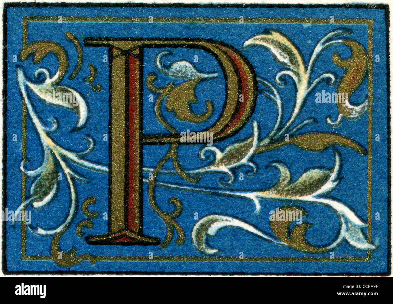 Italian initials. Publication of the book 'Meyers Konversations-Lexikon', Volume 7, Berlin, Germany, 1910 - Stock Image