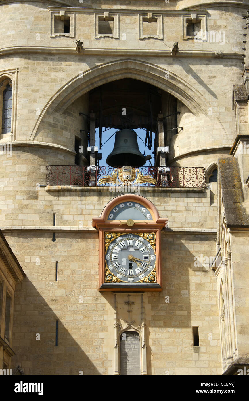 Grosse cloche de Bordeaux - Stock Image