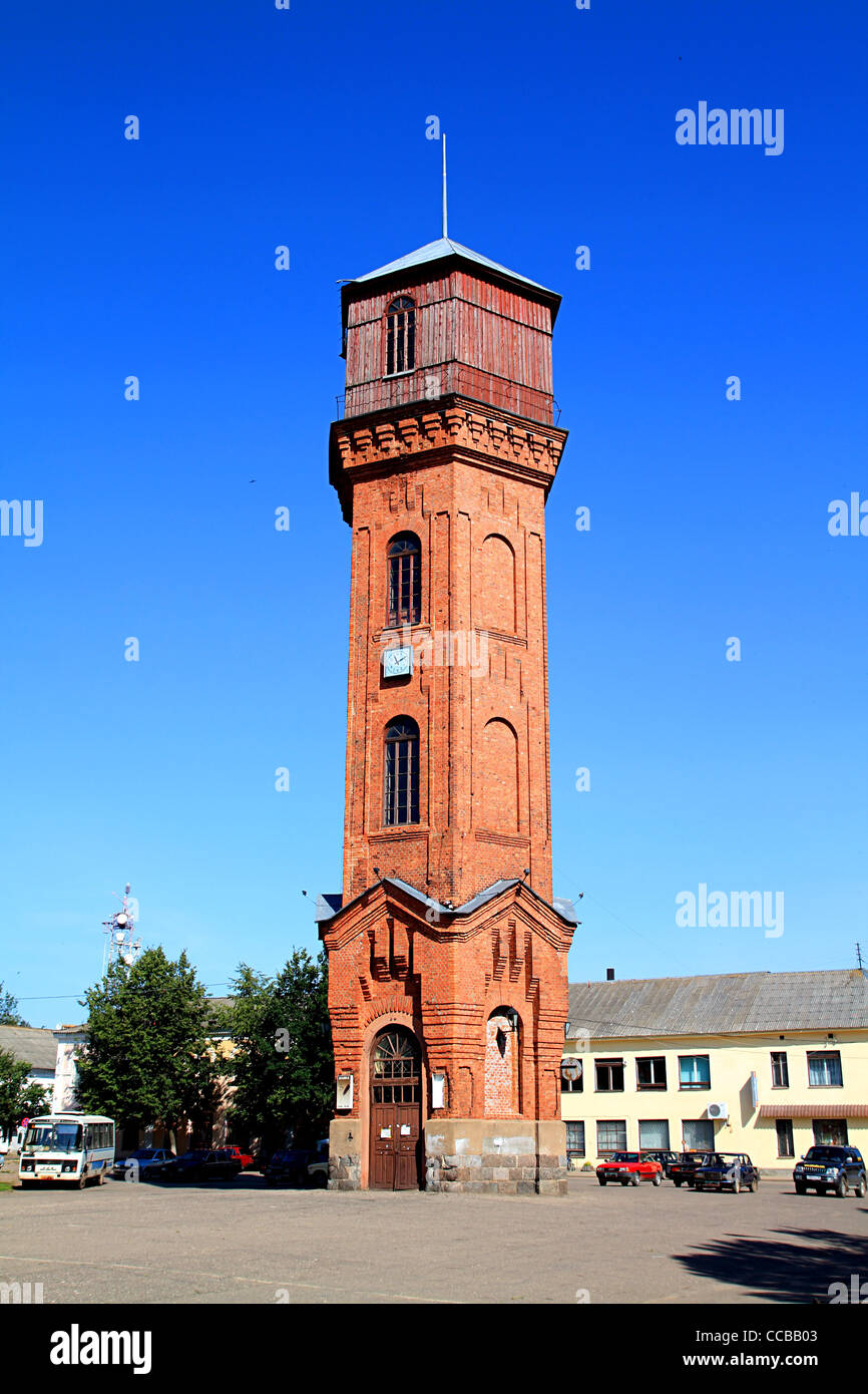 old-time water tower - Stock Image