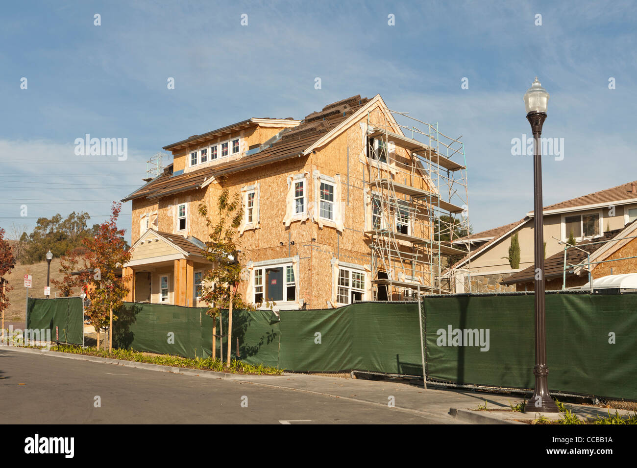 A multistory family home under construction - Stock Image
